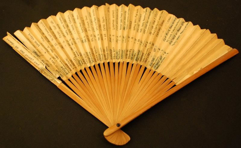 A fan kept by C/Sgt Arthur Challess