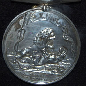 Medal Awarded to Pte Thomas Falla