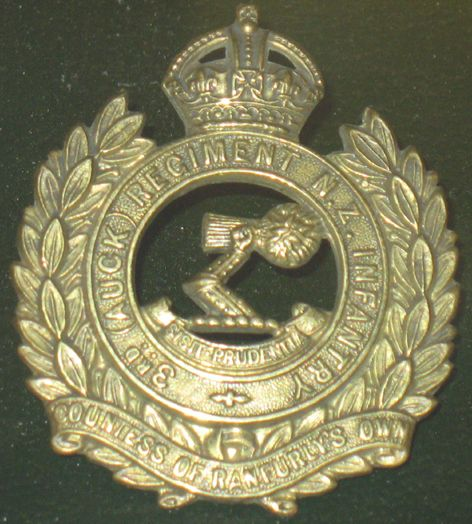 3rd Auckland Regiment Cap Badge